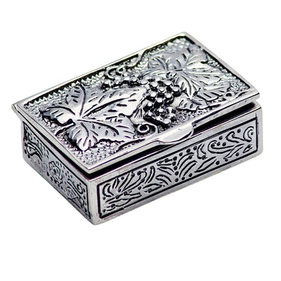 Sterling Silver Rectangular Filigree Box