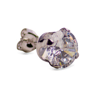 Sterling Silver Cubic Zirconia Round Stud Earrings | SilverAndGold