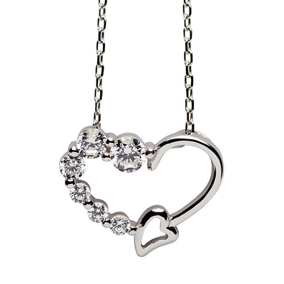 Swarovski Crystal 925 Sterling Silver Heart Necklace