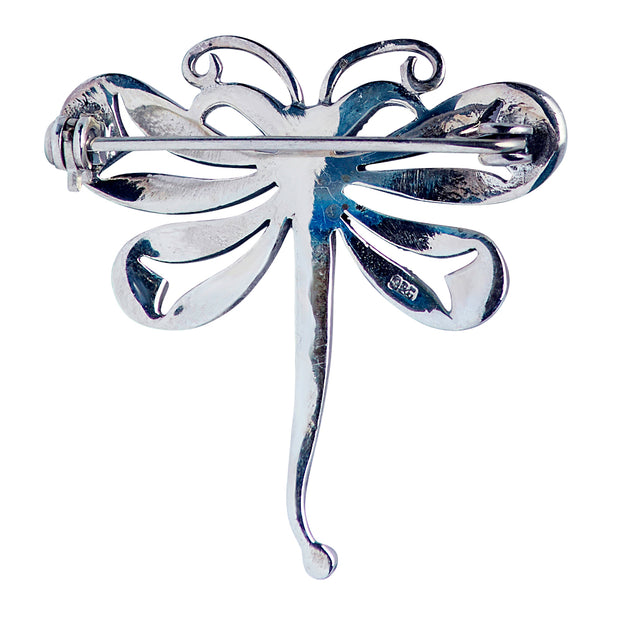 Sterling Silver And Marcasite Dragonfly Brooch