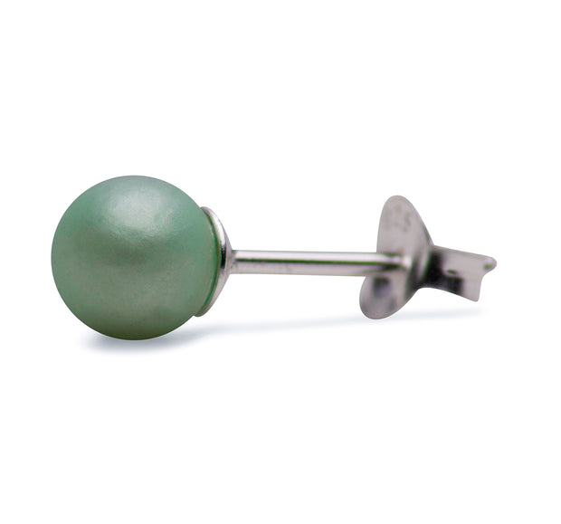 Green South Seas Cultured Pearl Earrings | SilverAndGold