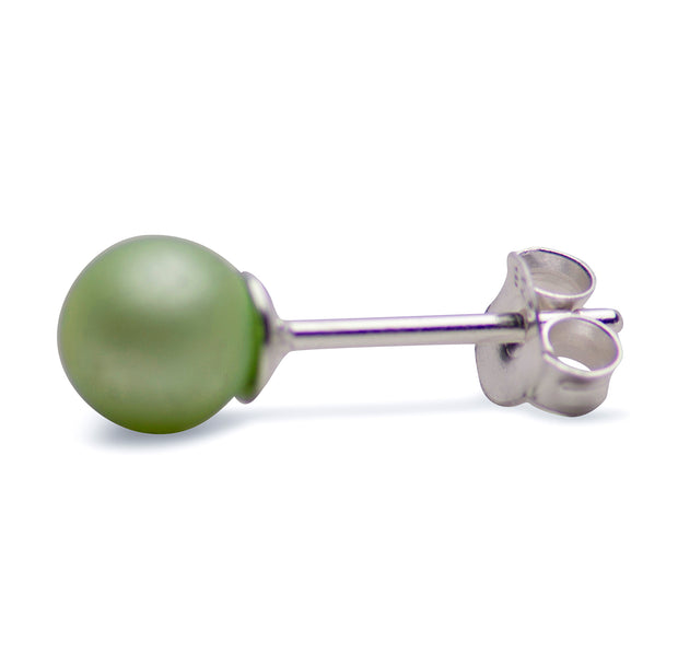 Light Green South Seas Pearl Earrings | SilverAndGold
