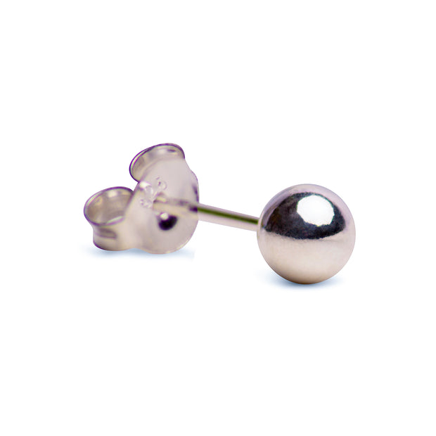 Classic Sterling Silver Ball Stud Earrings | SilverAndGold
