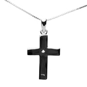 Sterling Silver Simple Cross Pendant Necklace