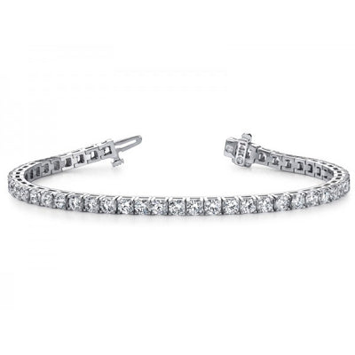4.00 ct Diamond Tennis Bracelet | SilverAndGold