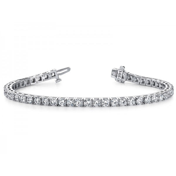 4.00 TCW Natural Diamond Tennis Bracelet - SilverAndGold.com Silver And Gold