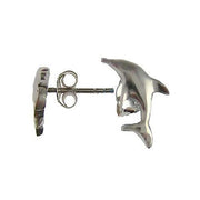 Sterling Silver Dolphin Post Earrings | SilverAndGold
