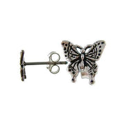 Sterling Silver Butterfly Post Earrings | SilverAndGold