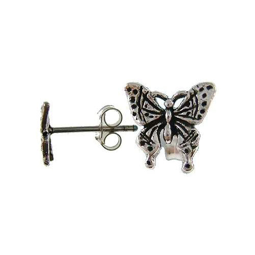 Sterling Silver Butterflies Post Earrings