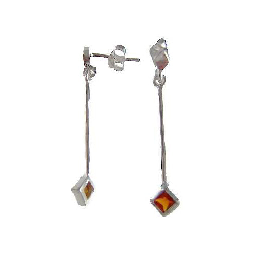 Silver Earrings with Garnet Gemstone - SilverAndGold.com Silver And Gold