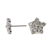Cubic Zirconia Sterling Silver Star Earrings | SilverAndGold