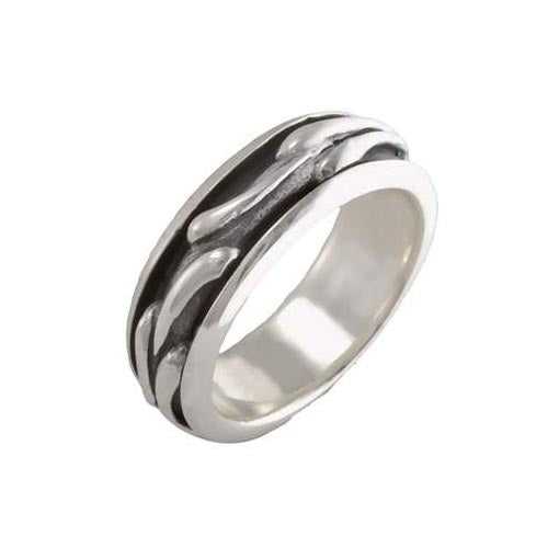 Silver Spinner Ring: Gaelic Design - SilverAndGold.com Silver And Gold