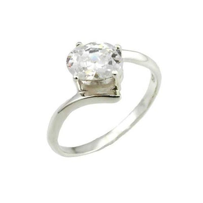 Solitaire 3/4 Carat Oval - SilverAndGold.com Silver And Gold