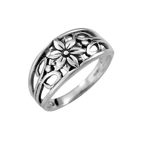 Sterling Silver Flower Ring - SilverAndGold.com Silver And Gold