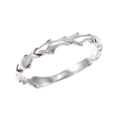 Silver Ring - Elegant Dolphins