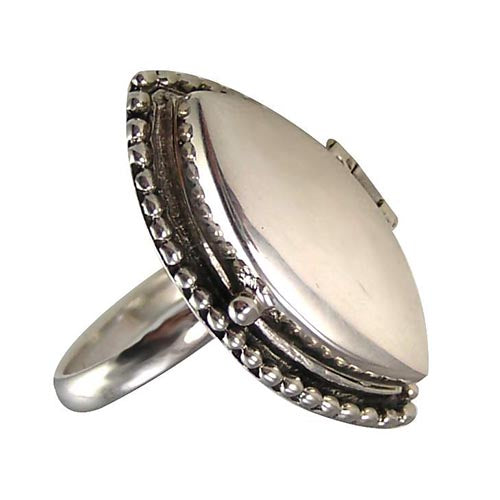 Sterling Silver Secret Poison Ring - SilverAndGold.com Silver And Gold