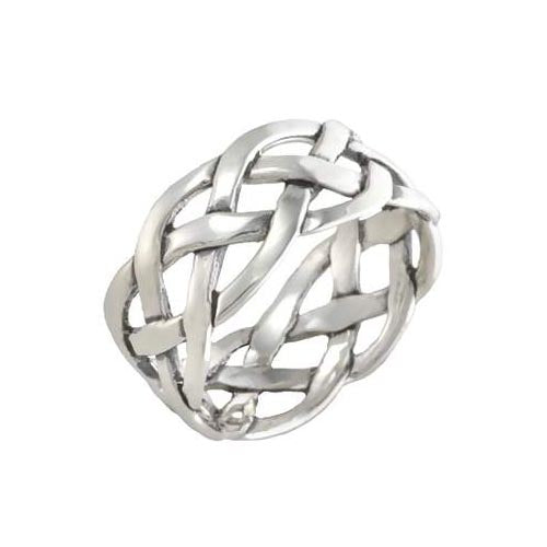 Silver Ring Infinity Knot Design