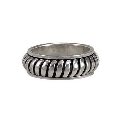 Silver Spinner Ring Snakeskin Design - SilverAndGold.com Silver And Gold