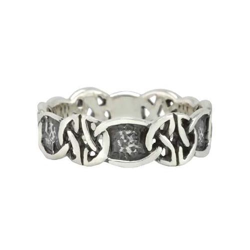 Silver Ring Gaelic Irish Knots Design