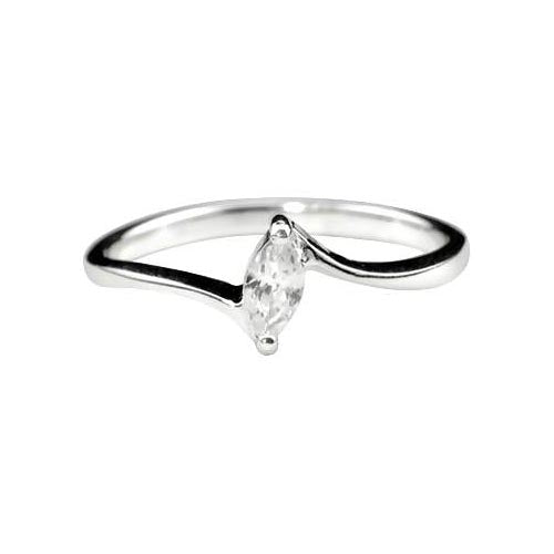 Sterling Solitaire Ring (1/4 Carat) - SilverAndGold.com Silver And Gold