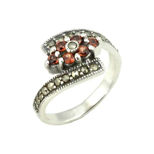 Silver and Garnet Gemstone Ring - SilverAndGold.com Silver And Gold