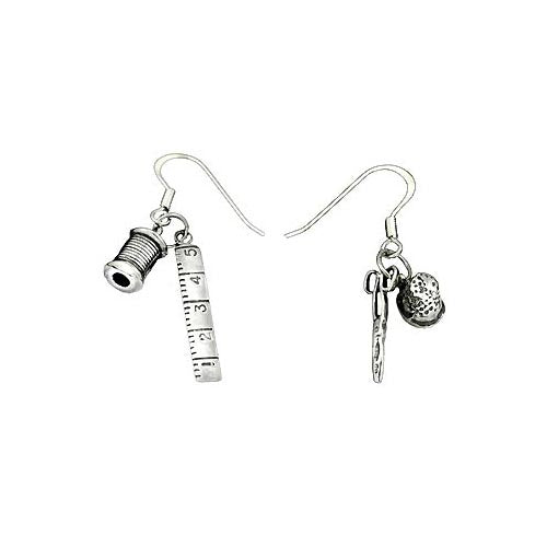 Silver Earrings: Seamstress Tools - SilverAndGold.com Silver And Gold