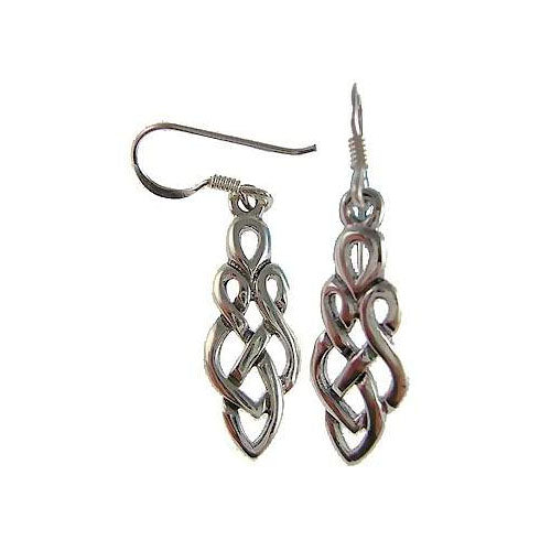 Silver Earrings: Ornate Twisted Rope - SilverAndGold.com Silver And Gold