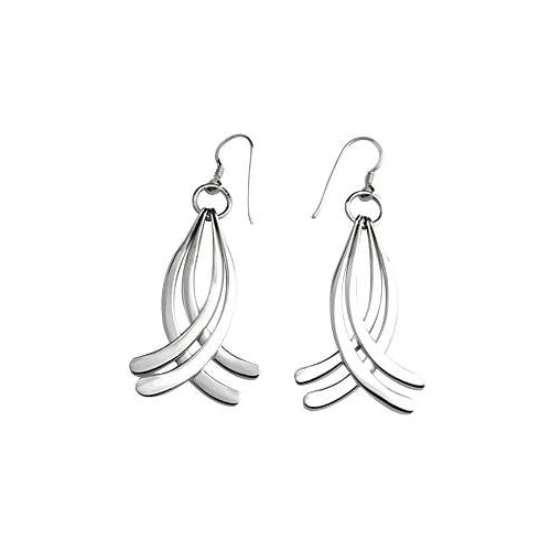 Sterling Silver Curve Earrings | SilverAndGold