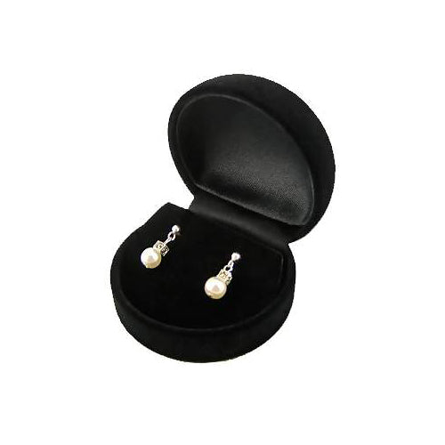 Sterling Silver And White Pearl and Marcasite Gemstones Post Earrings