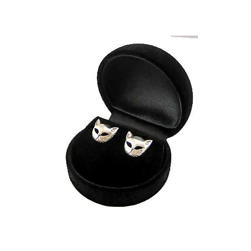 Silver Post Earrings: Cats