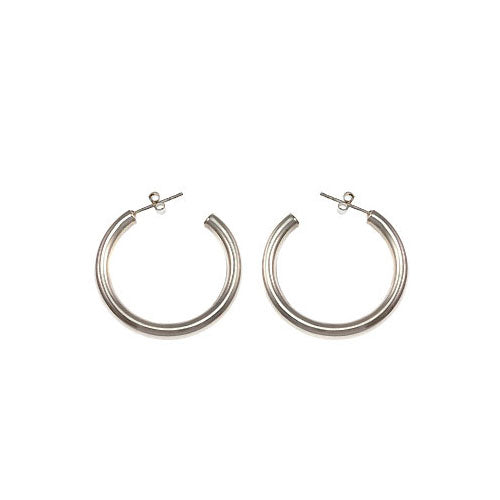 Silver Earrings: Tubular Hoops - SilverAndGold.com Silver And Gold