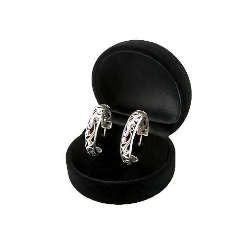 Silver Hoop Filigree Earrings