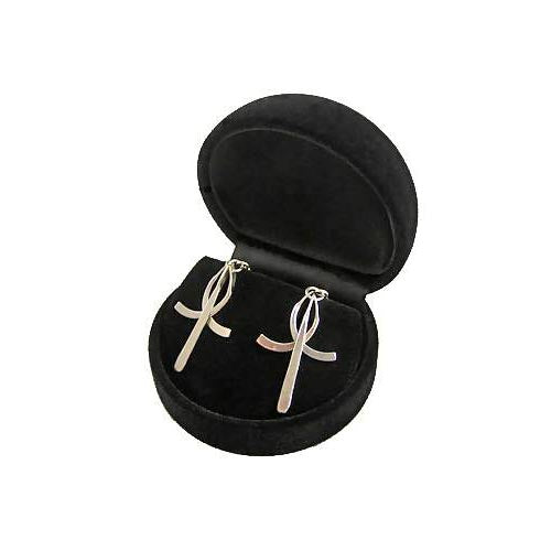 Silver Earrings: Dangling Crosses - SilverAndGold.com Silver And Gold