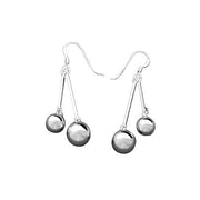 Sterling Silver Dangle Earrings: Silver Balls - SilverAndGold.com Silver And Gold