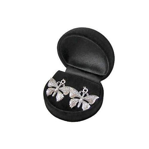 Large Sterling Silver Butterfly Earrings | SilverAndGold