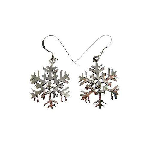 Silver Earrings: Snowflakes - SilverAndGold.com Silver And Gold