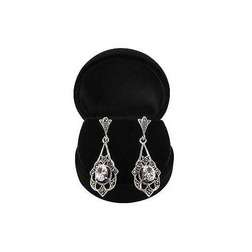 Sterling Silver Victorian Drop Earrings | SilverAndGold