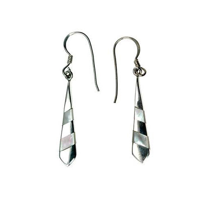 Sterling Silver & Mother of Pearl Earrings: Dangle Chandelier - SilverAndGold.com Silver And Gold