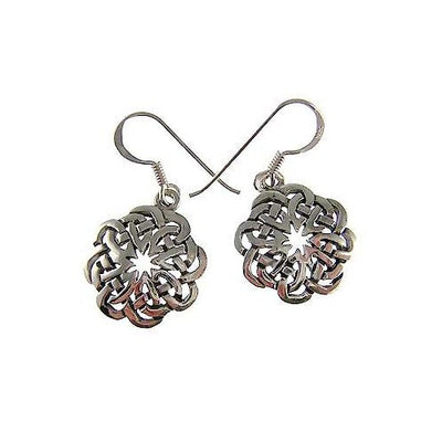 Reticulated Infinity Knot Sterling Silver Earrings | SilverAndGold