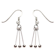 Silver Earrings: Dangle Sterling Silver Balls - SilverAndGold.com Silver And Gold