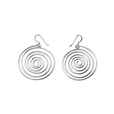 Sterling Silver Spiral Retro Earrings | SilverAndGold