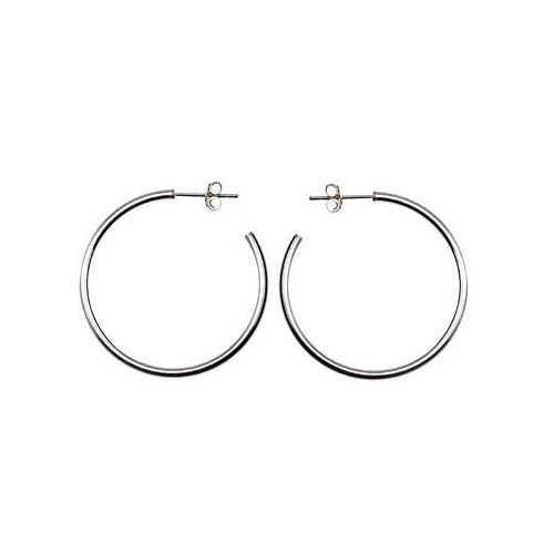 Sterling Silver Large Hoop Earrings | SilverAndGold