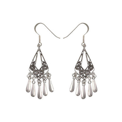 Sterling Silver Dangle Chandelier Earrings | SilverAndGold