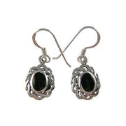 Silver Earrings: Black Onyx Oval - SilverAndGold.com Silver And Gold