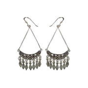 Sterling Earrings: Dangle Earrings with French Filigree Cut - SilverAndGold.com Silver And Gold