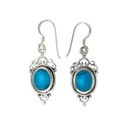 Victorian Style Sterling Silver & Turquoise Earrings | SilverAndGold