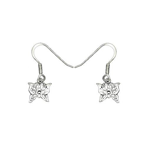 Silver Earrings: Butterflies - SilverAndGold.com Silver And Gold