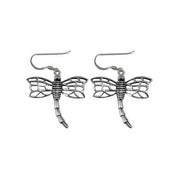 Detailed Dragonfly Sterling Silver Earrings | SilverAndGold