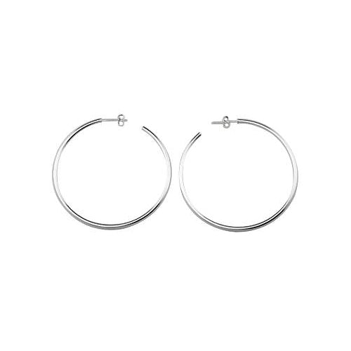 2 1/4 Inch Large Silver Hoop Earrings - SilverAndGold.com Silver And Gold