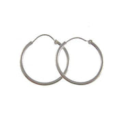 Silver Post Earrings: Sterling Hoops